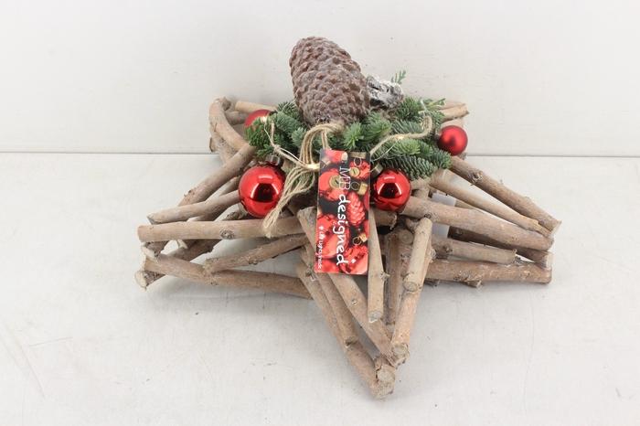 <h4>arr.. Kerst MB - Hout ster XL rood</h4>