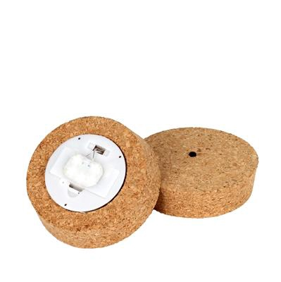 <h4>Cork dop Ø10,5xH3cm natural look with light</h4>