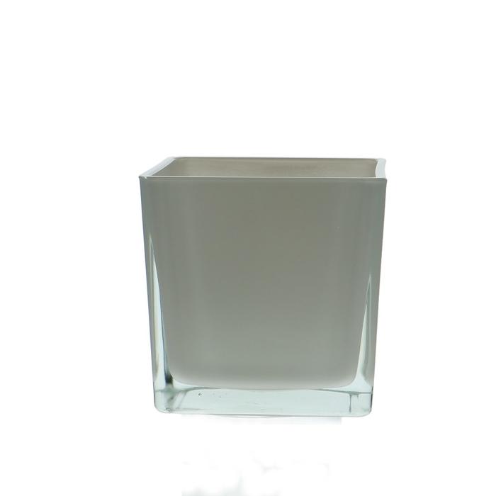 <h4>Glass colour Cube taper d12*12cm</h4>