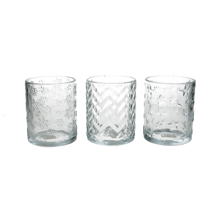 <h4>Theelichth. Glas Christmas d10*12.5cm</h4>