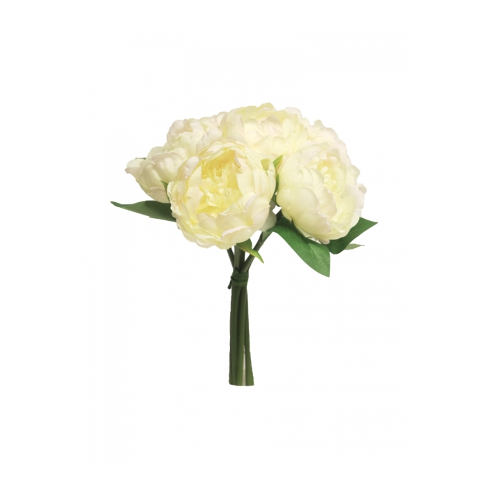 <h4>SILK FLOWERS - PEONY MARIT BUNDLE CREAM 30CM</h4>