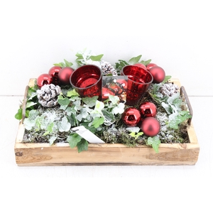 arr. PL - Hout tray XL - Rood
