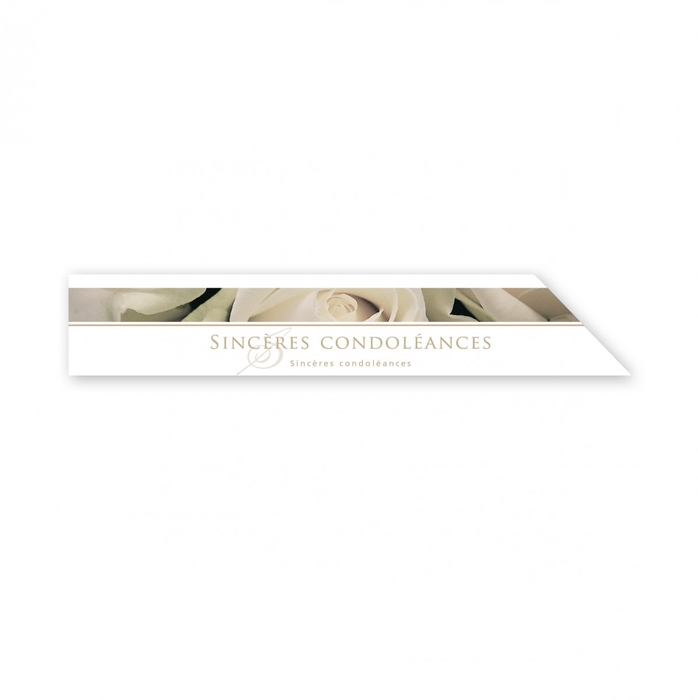 <h4>Labels Cards 210*80mm x25 Condoléance</h4>