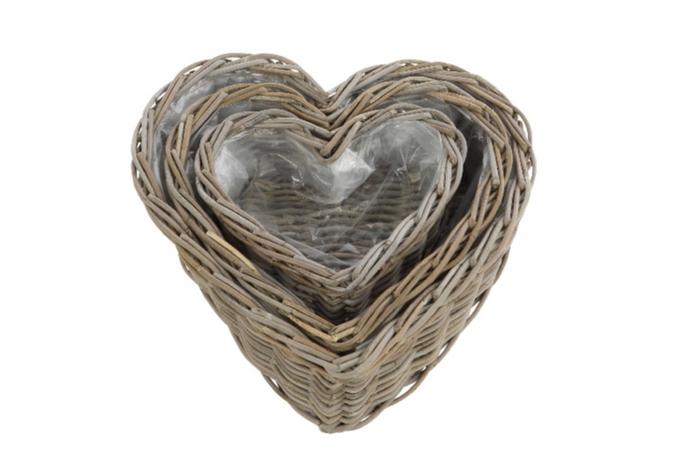 <h4>DF888002200 - S/3 Basket heart 'Petrina' gry</h4>