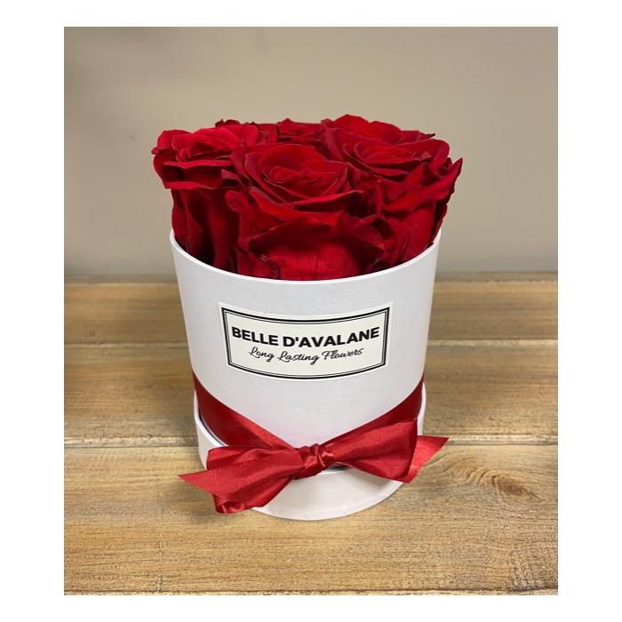<h4>Box rd 12cm wit-rood</h4>
