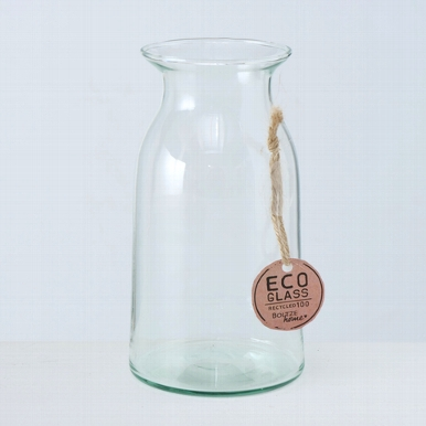 <h4>Vaas Eco-Glas, H 18 cm, Transparant</h4>