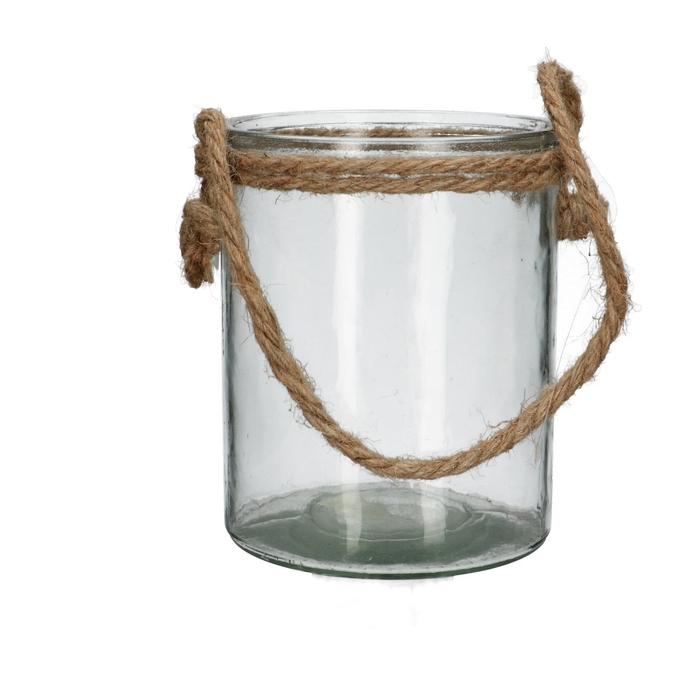 <h4>Glas Pot+touw d12*15cm</h4>