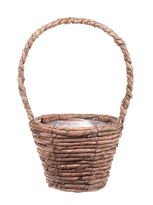 <h4>DF662740200 - H.basket Banana tree bark d17.5xh12.5/33</h4>
