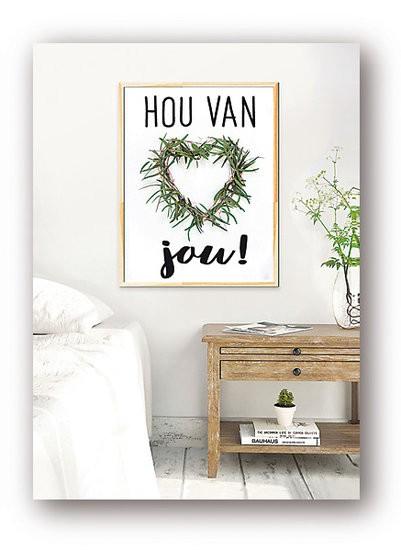 <h4>Liefde Kaart 08*6cm x12 Hou van jou!</h4>