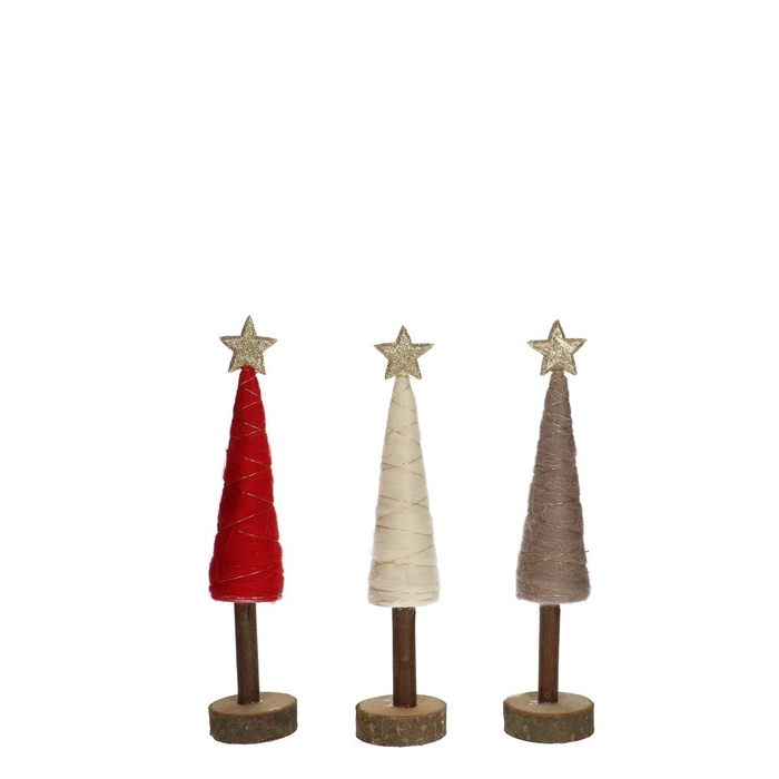 <h4>Christmas Christmastree wool d6*28cm ass.</h4>
