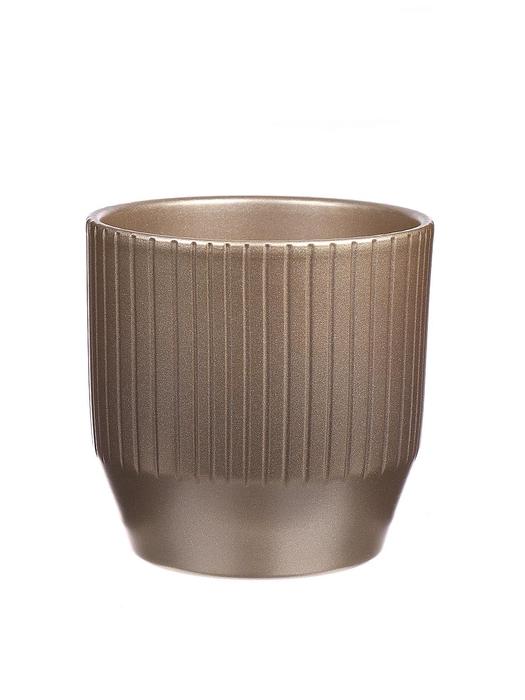 <h4>DF883675747 - Pot Pisa+lines d13.5xh13.2cm gold mtlc</h4>