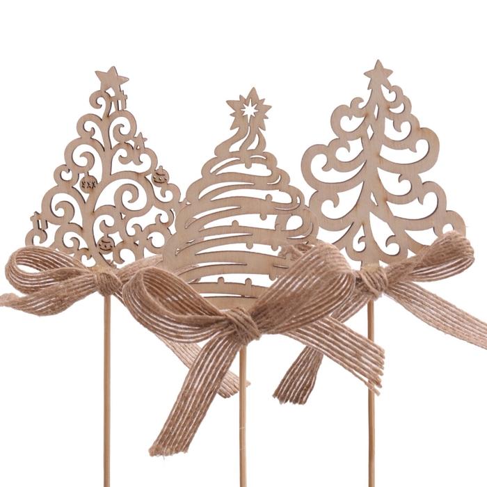 <h4>Christmas sticks 50cm Christmas tree+bow 7cm</h4>