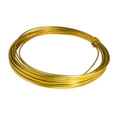 <h4>Gelakt aluminiumdraad - goud 100 gram (12 meter)</h4>