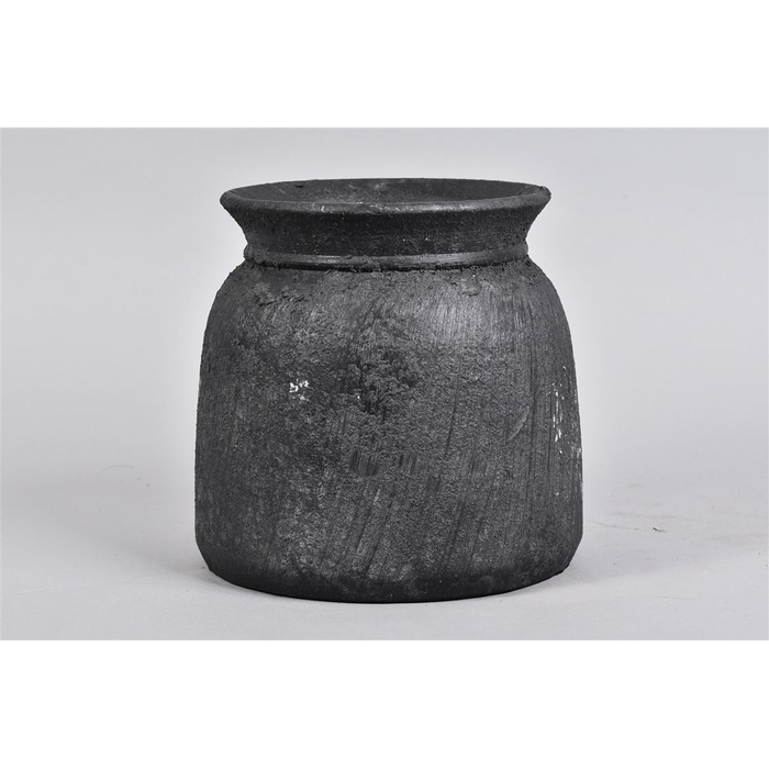 <h4>Bali Black Coal Kruik 20x21cm</h4>