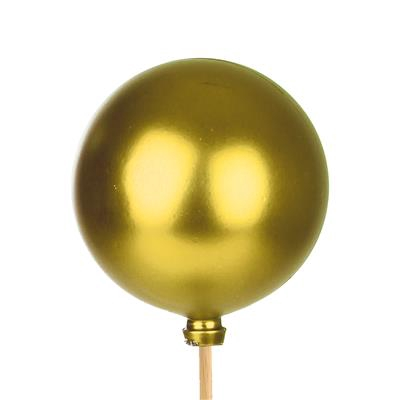 <h4>Bijsteker Kerstbal mat Ø6cm+50cm stok goud 100</h4>