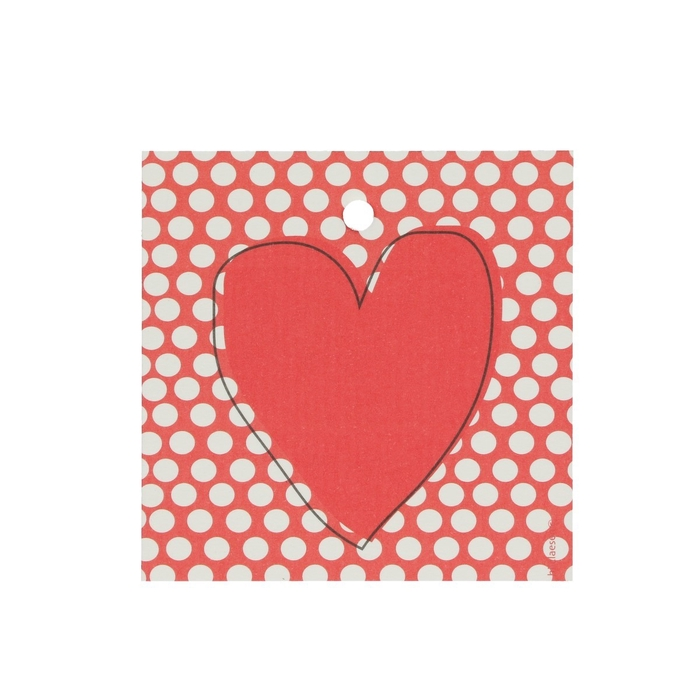 <h4>Labels Cards 70mm x25 Heart</h4>