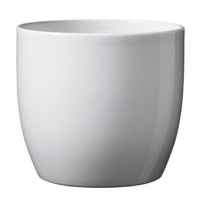 <h4>Pot Basel Céramique Ø19xH18cm blanc brilliant</h4>