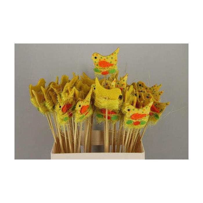 <h4>Stick Bird Felt-nest Yellow</h4>