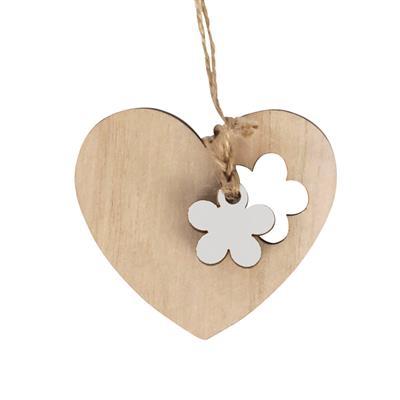 <h4>Pendantif coeur fleur bois 6x7+16cm jute corde bla</h4>