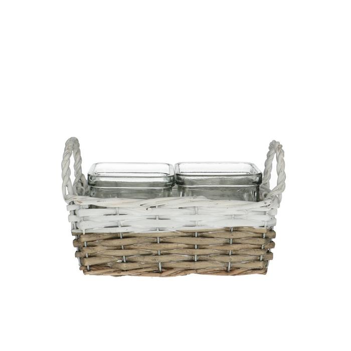 <h4>Glass Basket+2tray d7.5*7.5cm</h4>