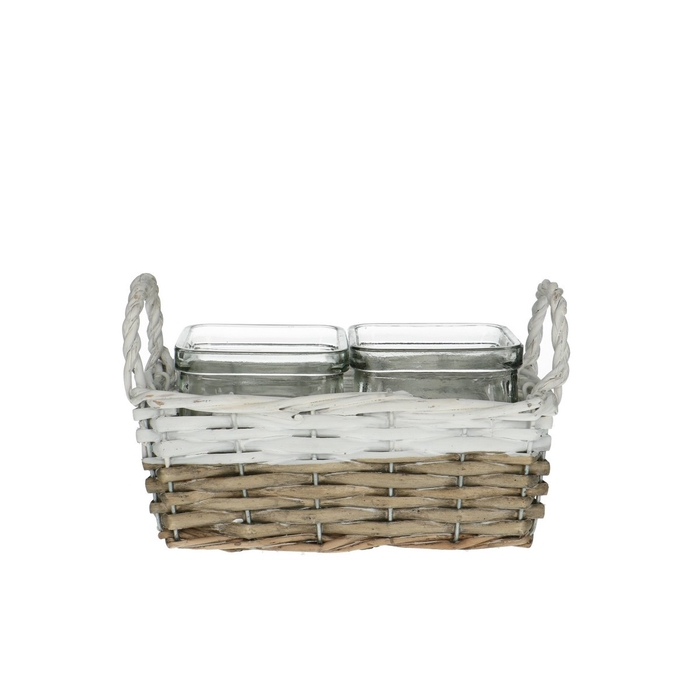 <h4>Glass Basket+2tray d7.5*7.5cm</h4>