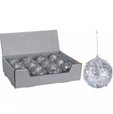 <h4>Christmas bauble Bal deco glitter 80mm</h4>