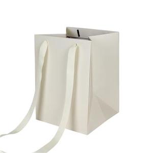 Bag Elegant carton 18x18xH25cm cream