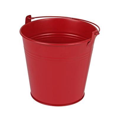 <h4>Bucket Sevilla zinc Ø13xH13cm - ES12 red matt</h4>