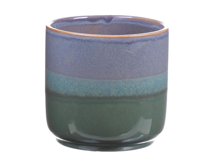 <h4>DF550081047 - Pot Tobias2 d13.2xh12.5 blue/green</h4>