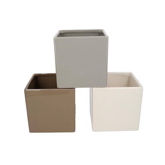 <h4>Ceramics Cube d14*14cm ass.</h4>