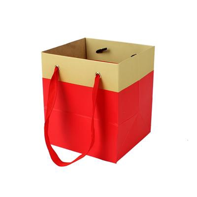 <h4>Bag Facile carton 9,5x9xH11cm red</h4>