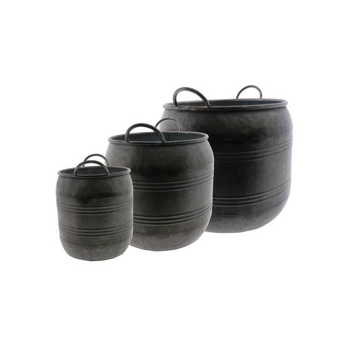<h4>Planter Tub Zinc S/3 Ø32x31cm</h4>