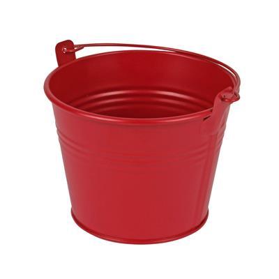 <h4>Bucket Sevilla zinc Ø11,7xH9cm - ES10,5 red matt</h4>