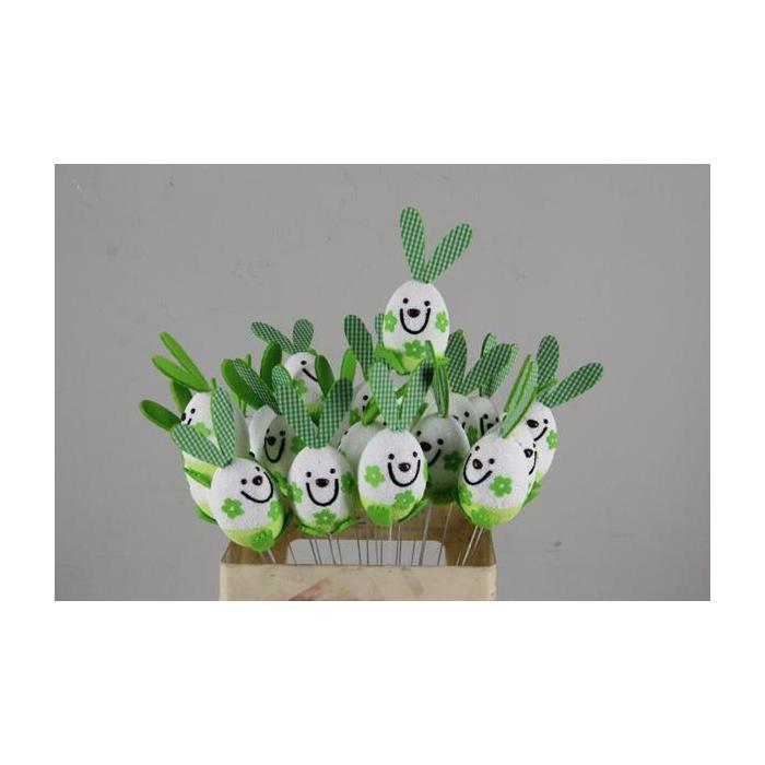<h4>Stick Easter Rabbit Green</h4>