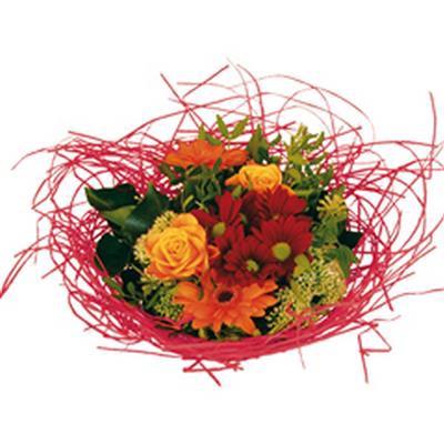 <h4>Bouquet holder woody Ø25cm red</h4>
