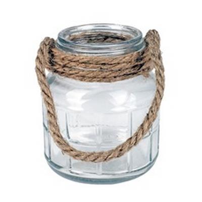 <h4>Vaas Cruz met touw glas Ø12.5xH14.3cm</h4>