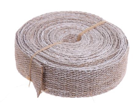 <h4>Jute ribbon 5cm/10mtr white brush</h4>