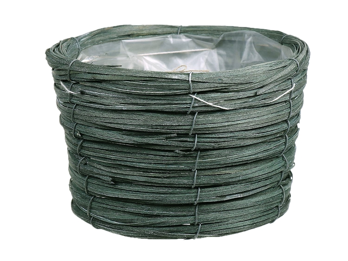 <h4>DF470603900 - Basket Paia d17xh12 green</h4>