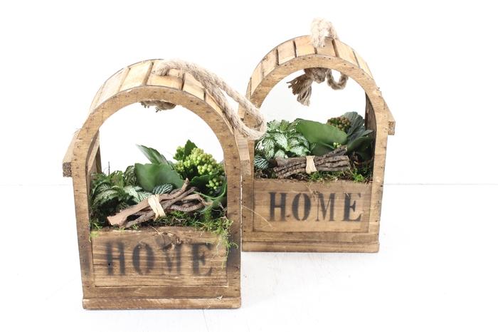 <h4>arr. TD422 - Hangkast Home hout - roze/wit</h4>
