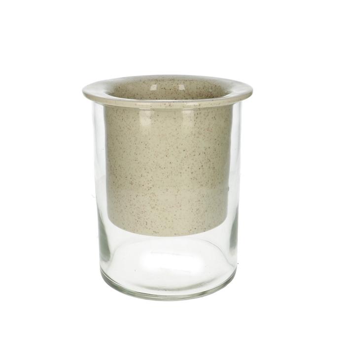 <h4>Glas Navone Cilind.+pot d17*21cm</h4>