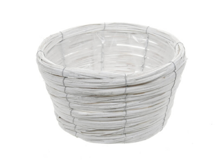 <h4>DF470602200 - Basket Paia d27xh16 white</h4>