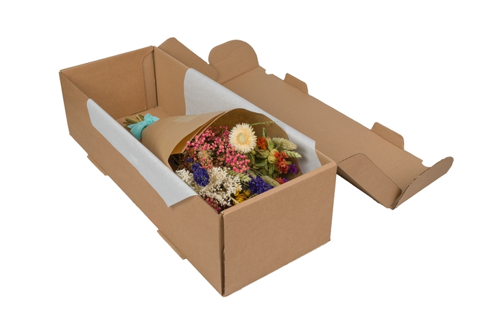 <h4>HAND TIED BOUQUET IN BOX MULTI</h4>