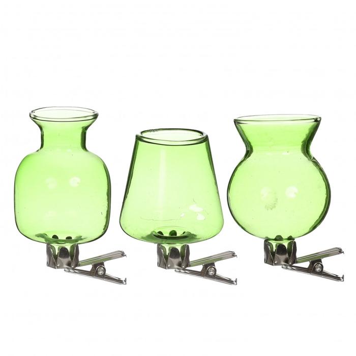 <h4>Glas kleur Vaas/clip d4*7cm x3</h4>