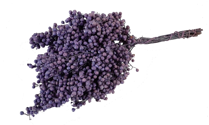 <h4>Pepperberries per bunch in poly frosted milka</h4>
