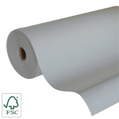 <h4>Papier 60cm Kraft 50gr  blanc gris cl. Fond 400m.</h4>
