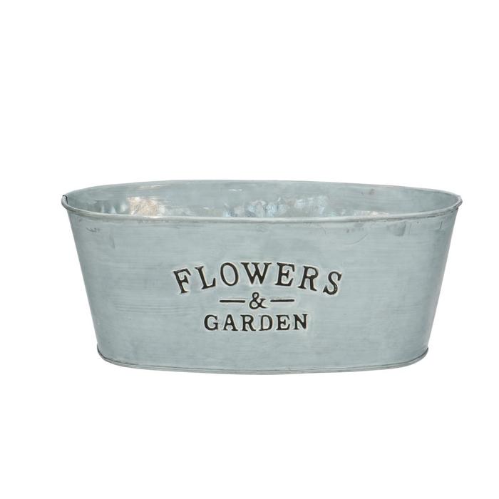 <h4>Zinc Flower&garden oval d25*14*10cm</h4>