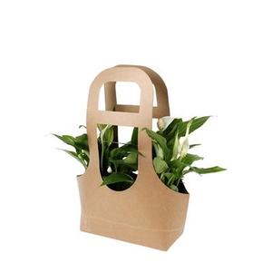Bag Twinny carton 17,5x7,5xH12,5/38cm brown FSC