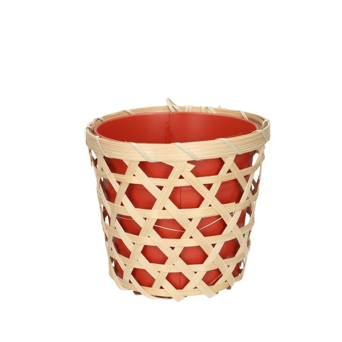 <h4>Zink Pot Bamboo d14*12.5cm</h4>