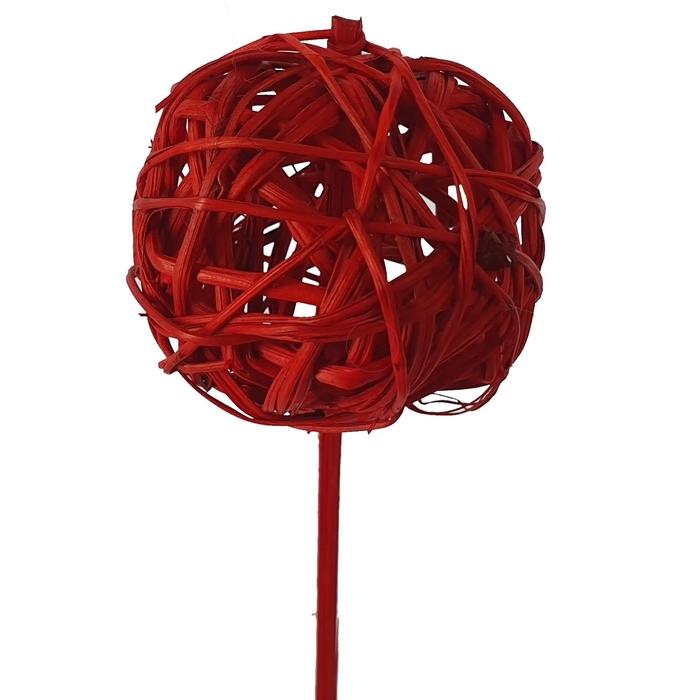 <h4>Bruce ball 5cm on stem Hot red</h4>