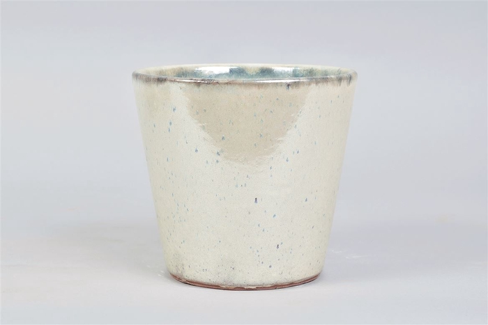<h4>Alicante Cream Pearl Pot 17x16cm</h4>